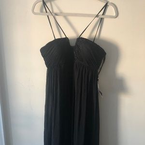 JS Boutqie Long black gown with bead detail